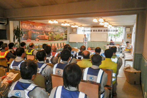 協力会社を含めた自社防災訓練を実施しています。