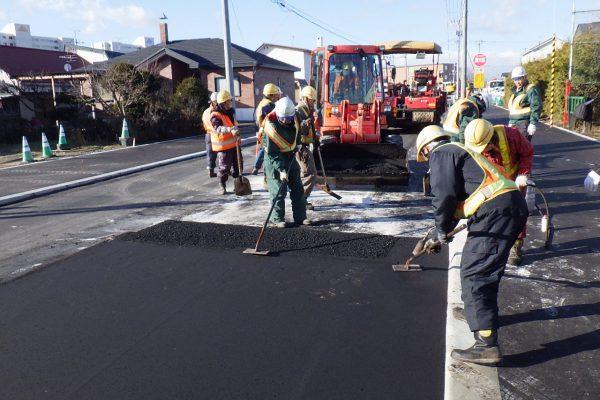 市道大和通線道路整備工事(舗装工)