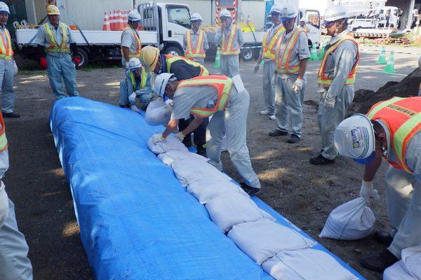 東光・栗林合同防災訓練を実施しました。