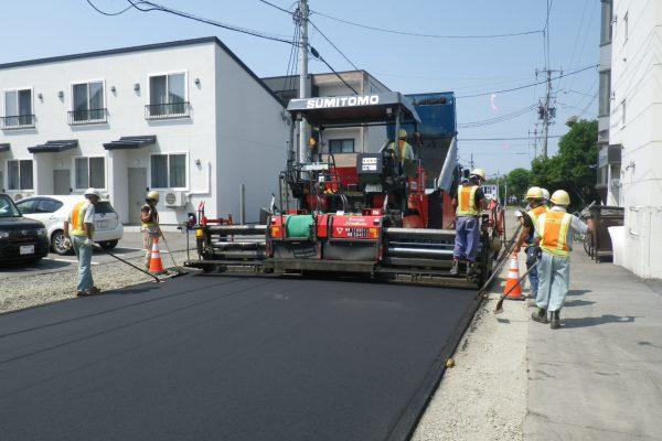 特殊舗装道路改良工事第4工区