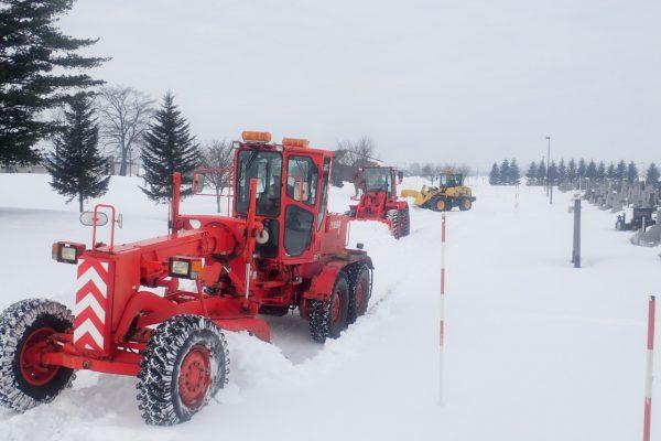 中島霊園他にて除雪ボランティア活動を実施しました。