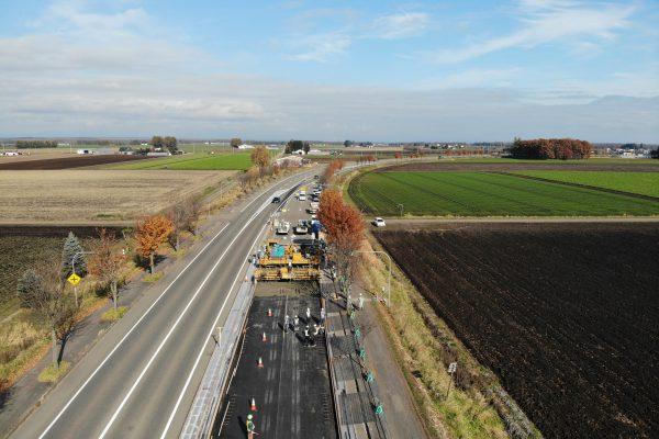 一般国道241号 音更町 下音更舗装補修工事